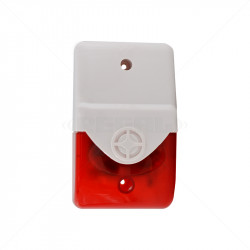 Securi-Prod Alarm Siren and Strobe - Red